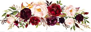 Marsala wine Wedding invitation Flor, aquarela rosa, quadro de rosas vermelhas e rosa png