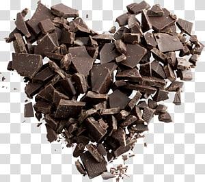 ilustração de coração de barra de chocolate, barra de chocolate Biscoito de chocolate branco chocolate Dia Mundial do Chocolate, chocolate PNG clipart