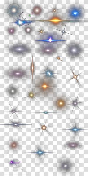 ilustração de faíscas de cores sortidas, marca d'água azul clara, vários tipos de pontos de emissão de luz PNG clipart