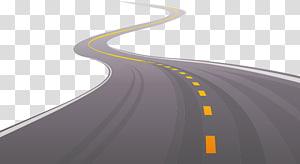 ilustração de estrada sinuosa, estrada asfalto ilustração, estrada estrada estrada png