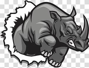 ilustração de rinoceronte preto, desenho de rinoceronte, rinoceronte png