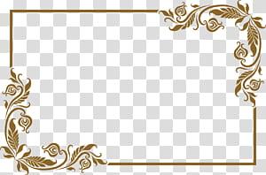 moldura, linda moldura dourada antiga, marrom deixa o quadro png
