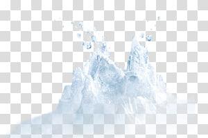 montanha da neve, pólo sul Iceberg antártico Urso polar, iceberg PNG clipart