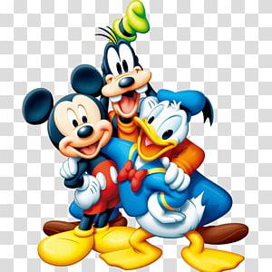 Ilustração de Mickey Mouse, Pato Donald e Pateta, Mickey Mouse Minnie Mouse Plutão, Mickey Mouse PNG clipart