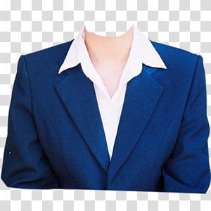 Vestido formal, Modelos para passaporte, paletó azul com lapela PNG clipart