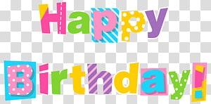 Bolo de aniversário Desejo, feliz aniversário colorido, sinalização de modelo de feliz aniversário png