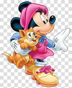 Minnie Mouse Mickey Mouse Pateta, Minnie Mouse com Gatinho, personagem da Disney Mickey Mouse PNG clipart