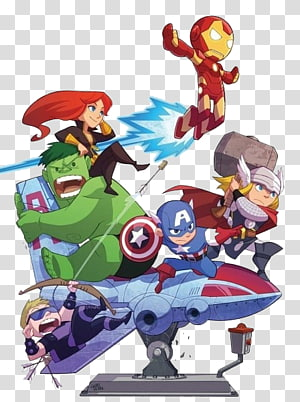 Marvel superheroes illustration, Homem de Ferro Hulk Nick Fury Viúva Negra Clint Barton, Marvel Super Heroes png