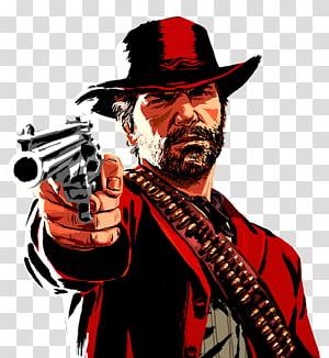 homem segurando arma gráfico ilustração, red dead redenção 2 grand theft auto v rockstar jogos vídeo game, outros PNG clipart