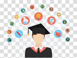 homem vestindo ilustração de vestido acadêmico, teste de aptidão de pós-graduação em engenharia (portão) exame de admissão conjunta, principal (jee principal) preparação de teste de estudante, estudante universitário PNG clipart