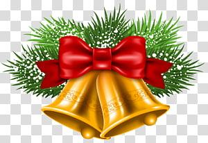 ilustração de sino dourado, vermelho e verde, Jingle bell Christmas, Christmas Bells PNG clipart
