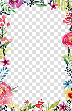 Convite de casamento modelo de molduras e molduras de flores, convite de casamento, floral multicolorido png