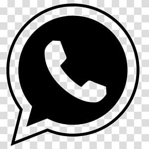 logotipo preto Whatsapp, WhatsApp ícones de computador, whatsapp PNG clipart