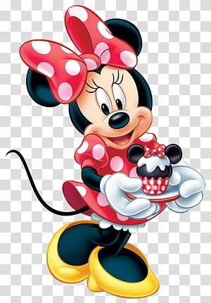 ilustração de minnie mouse, minnie mouse mickey mouse aniversário de pato donald, minnie mouse vermelho PNG clipart