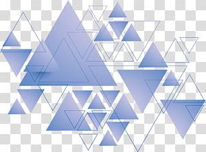 Geometria do triângulo, triângulo azul, arte dos triângulos png