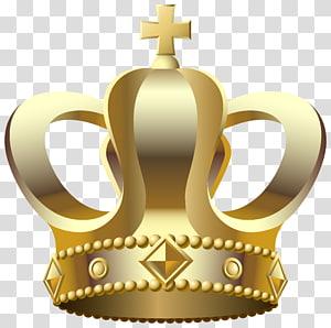 ilustração de coroa dourada, coroa, coroa de ouro PNG clipart