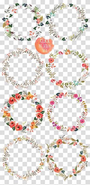 Flor Aquarela pintura Desenho, flor de cor, ilustrações de grinalda de flores de cores sortidas PNG clipart