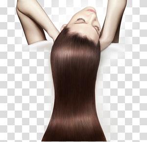 mulher com longos cabelos negros, ferro de passar cabelo Alisamento de cabelo Condicionador de cabelos Cuidado com os cabelos PNG clipart