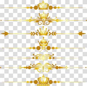 bordas de tiara e coroa marrons, ouro, linha divisória de coroa dourada PNG clipart