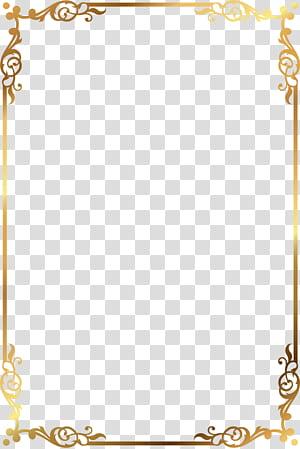 Moldura padrão ouro, moldura floral ouro e marrom png