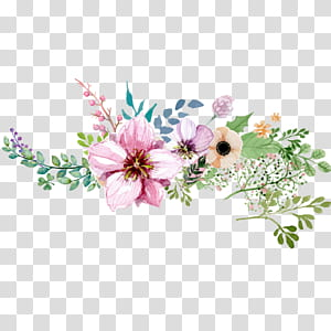 Flor, padrão de decoração de flores em aquarela pintada à mão, pintura de flores de pétalas rosa, roxa e marrom PNG clipart