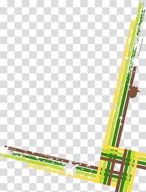 ilustração de linhas verdes e amarelas, linhas abstratas PNG clipart