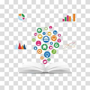 Ilustração de elementos infográfico, estudante curso internacional escola educação classe, livro e ícone de aprendizagem PNG clipart