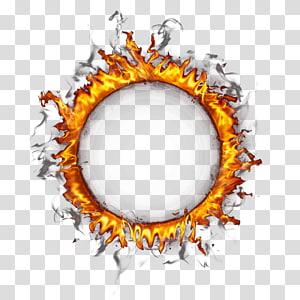 Círculo do anel de fogo, borda do anel de fogo, ilustração do anel de fogo PNG clipart
