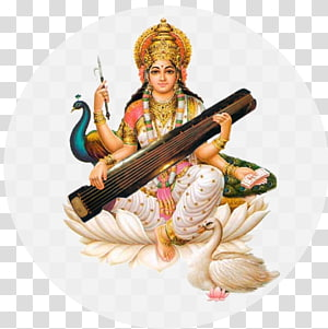 Ilustração do Deus Hindu, Saraswati Vandana Mantra Devi, Saraswati PNG clipart