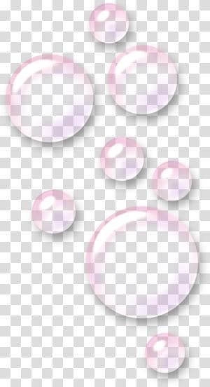 Padrão de espuma rosa, bolha rosa, ilustração de bolhas png