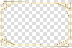 Padrão de ponto amarelo de ângulo, moldura de ouro, moldura de madeira retangular marrom png