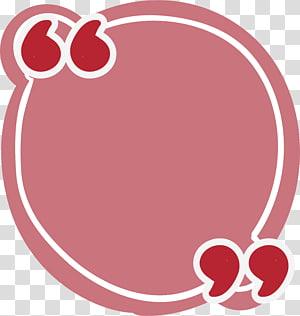 arte gráfica redonda do cabeçote rosa e vermelho, aspas Se (nós), caixa de referência redonda rosa png