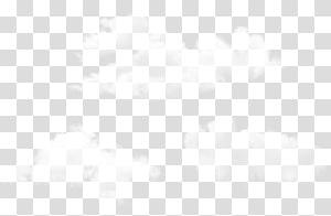Padrão de ponto de ângulo de simetria de linha, conjunto de nuvens, três ilustrações brancas PNG clipart