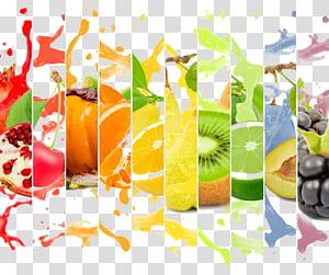 Suco de laranja, anúncio criativo de suco de frutas, colagem de frutas cítricas png