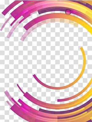 Abstração de círculo Geometria diferencial abstrata, círculo geométrico abstrato colorido, azul redondo, rosa e amarelo PNG clipart