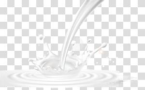 ilustração de leite, padrão de material branco, leite pintado derramado png