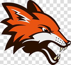 logotipo de lobo laranja e branco, raposa vermelha logotipo, s sobrancelhas zangadas png