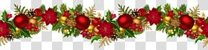 Decoração de Natal Ornamento Guirlanda, Guirlanda Decorativa de Natal, Bauble Natal e fita png