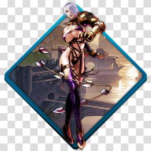 ilustração de personagem de cabelo cinza mulher anime, roxo, Soul calibur 4 PNG clipart