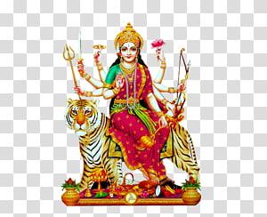 Ilustração do deus hindu, Durga Puja Mariamman Devi, Dussehra PNG clipart