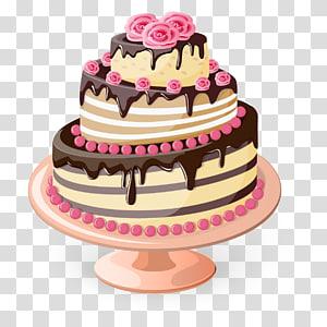Bolo de 3 camadas, Bolo de aniversário Cupcake Padaria Bolo de casamento Bolo de Natal, bolo png