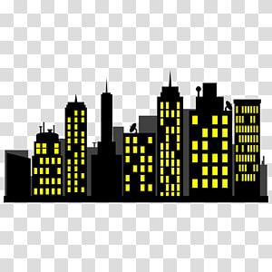 edifícios à noite ilustração, Batman Superman Diana Prince Flash Superhero, paisagem urbana png