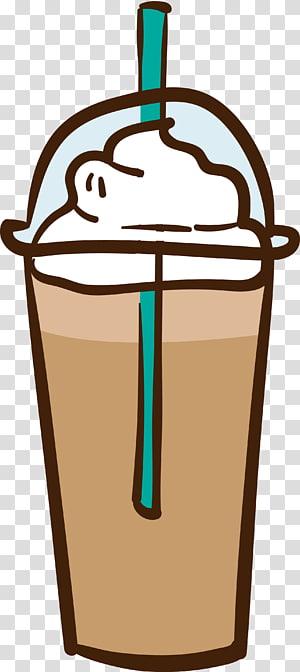 Café gelado com leite Cappuccino Espresso, Distribuir café png