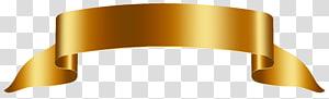 ilustração de fita de ouro, banner, banner de ouro grátis png