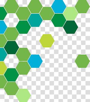 Círculo geométrico abstrato verde, verde e azul padrão de favo de mel png