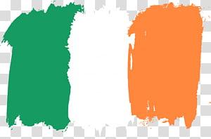 ilustração verde, branca, e alaranjada das aguarelas, curso irlandês da bandeira png