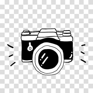 desenho de câmera preto e branco, câmera preta refrigerante suta, esboço de câmera dslr preto e branco PNG clipart