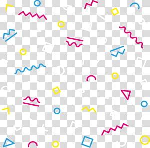 Padrões geométricos de linhas de cores PNG clipart