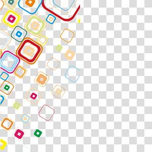 padrão quadrado de cores sortidas, ícone de padrão de design de software, material quadrado de círculo de cores PNG clipart