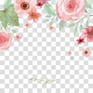 Convite de casamento dia nacional dos avós cartão salve a data, aquarela flores, rosas cor de rosa png